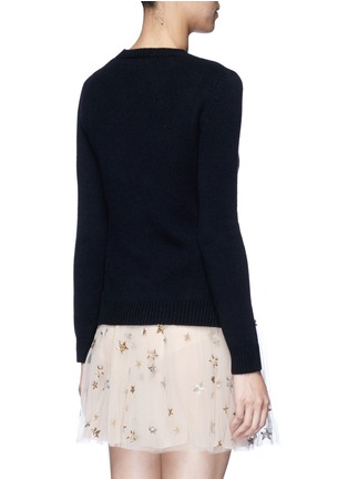 Back View - Click To Enlarge - Valentino - 'Rockstud Untitled 07' cashmere sweater