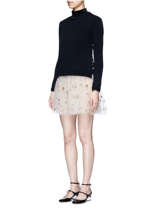 Figure View - Click To Enlarge - Valentino - 'Rockstud Untitled 07' cashmere sweater