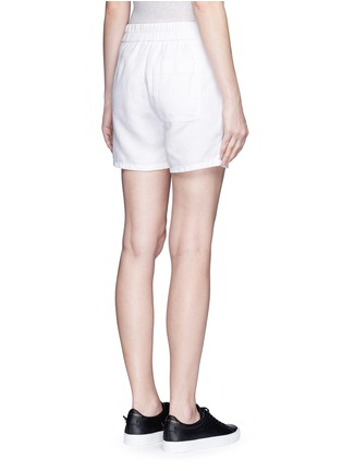 Back View - Click To Enlarge - James Perse - Cotton-linen piqué shorts