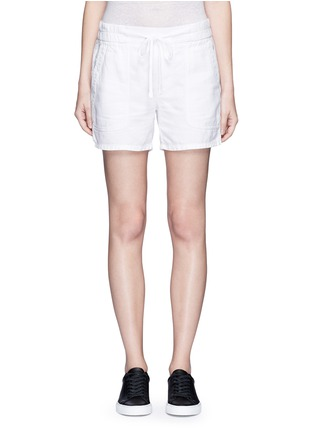 Main View - Click To Enlarge - James Perse - Cotton-linen piqué shorts