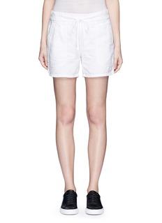 James PerseCotton-linen piqué shorts