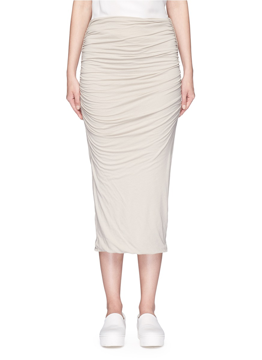 Shirred double layer tube skirt by James Perse