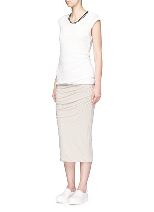 Figure View - Click To Enlarge - James Perse - Shirred double layer tube skirt