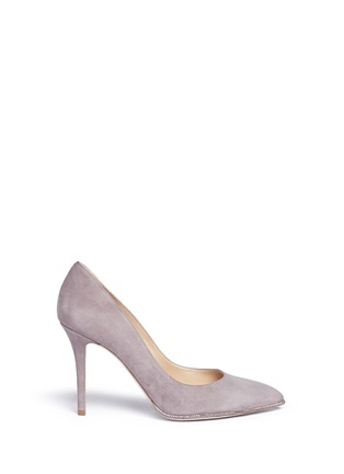 René Caovilla - Strass trim suede pumps