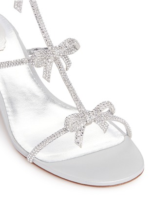 René Caovilla - Strass pavé bow satin sandals