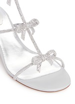 Strass pavé bow satin sandals
