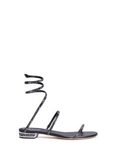 RENÉ CAOVILLA'Snake' strass pavé spring coil sandals