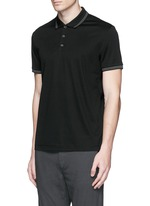 'Boyd TC' cotton jersey polo shirt