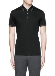 Theory'Boyd TC' cotton jersey polo shirt