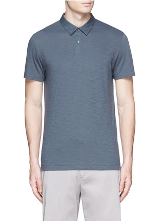 Main View - Click To Enlarge - Theory - 'Koree' cotton slub jersey polo shirt