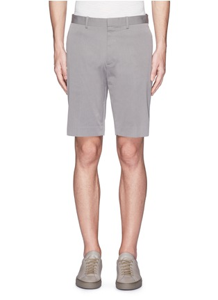 Main View - Click To Enlarge - Theory - 'Beck' stripe cotton blend shorts