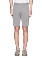 'Beck' stripe cotton blend shorts