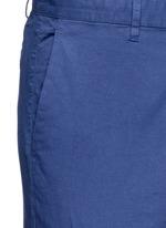 'Zaine S' garment dyed slim fit shorts