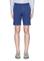 'Zaine S' garment dyed slim fit shorts