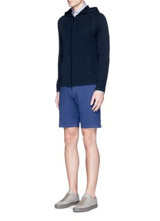 Theory'Zaine S' garment dyed slim fit shorts