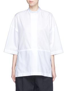 Victor AlfaroDiagonal stripe drop shoulder tunic shirt