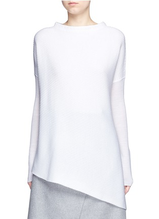 Main View - Click To Enlarge - Victor Alfaro - Drop shoulder mock neck wool sweater