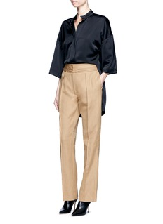 Victor Alfaro Ramie-cotton pants