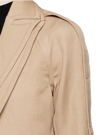 Detail View - Click To Enlarge - Victor Alfaro - Two-in-one twill jacket trench coat