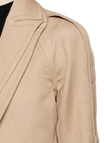 Two-in-one twill jacket trench coat