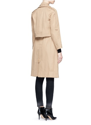 Back View - Click To Enlarge - Victor Alfaro - Two-in-one twill jacket trench coat