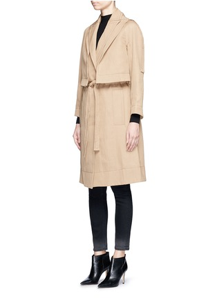 Front View - Click To Enlarge - Victor Alfaro - Two-in-one twill jacket trench coat