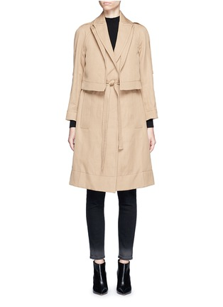 Main View - Click To Enlarge - Victor Alfaro - Two-in-one twill jacket trench coat