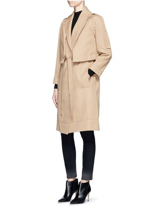 Figure View - Click To Enlarge - Victor Alfaro - Two-in-one twill jacket trench coat
