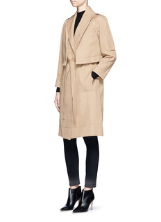 Victor Alfaro Two-in-one twill jacket trench coat