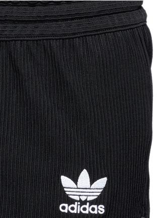 Detail View - Click To Enlarge - Adidas - Drawstring jacquard running shorts