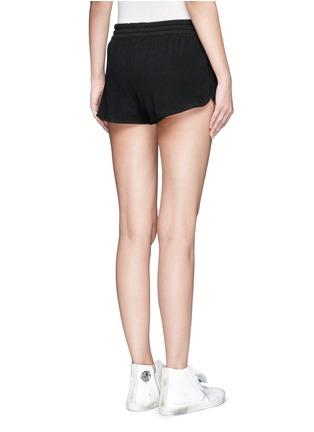 Back View - Click To Enlarge - Adidas - Drawstring jacquard running shorts