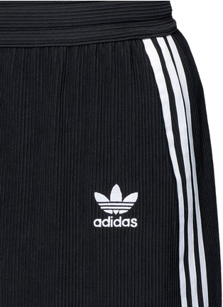 Detail View - Click To Enlarge - Adidas - Drawstring jacquard skirt