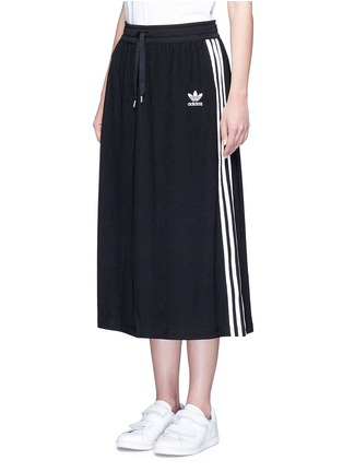 Front View - Click To Enlarge - Adidas - Drawstring jacquard skirt