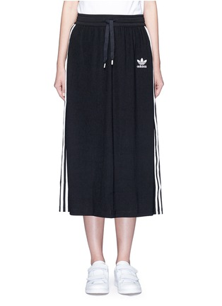 Main View - Click To Enlarge - Adidas - Drawstring jacquard skirt