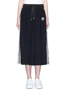 AdidasDrawstring jacquard skirt