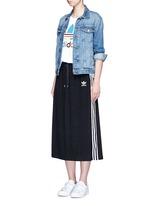 Drawstring jacquard skirt