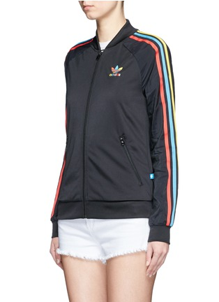 Front View - Click To Enlarge - Adidas - 'Superstar' stripe print track jacket