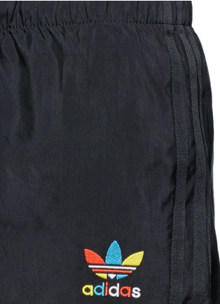 Detail View - Click To Enlarge - Adidas - Slim fit drawstring cupro blend shorts