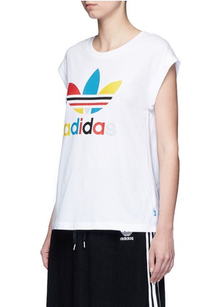 Front View - Click To Enlarge - Adidas - '70's Saturday Night Fever' Trefoil logo print T-shirt