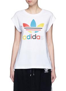 Adidas'70's Saturday Night Fever' Trefoil logo print T-shirt