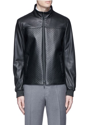 Armani Collezioni - Diamond embossed leather jacket