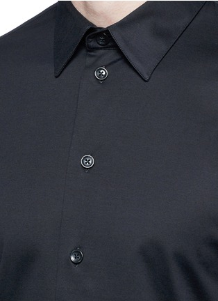 Detail View - Click To Enlarge - Armani Collezioni - Slim fit cotton shirt