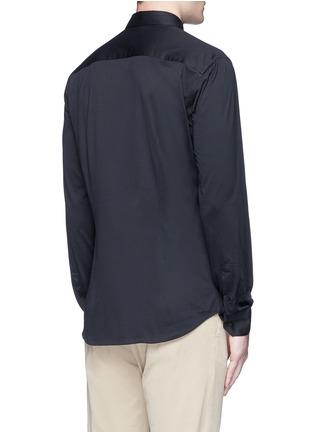 背面 - 点击放大 - ARMANI COLLEZIONI - 单色纯棉修身衬衫