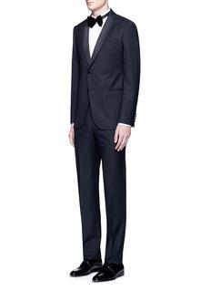 Armani CollezioniMetropolitan' satin shawl collar tuxedo suit
