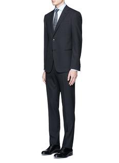 Armani CollezioniChevron virgin wool suit