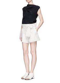 3.1 Phillip LimRuffle sleeveless silk top