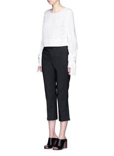 3.1 Phillip LimSplit cuff cotton blend capri pants