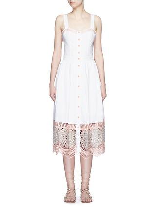 首图 - 点击放大 - TEMPERLEY LONDON - CLARA叶片刺绣镂空纯棉连衣裙