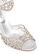 'Tresor' crystal pavé cutout slingback suede sandals