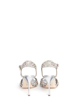 SERGIO ROSSI-'Tresor' crystal pavé cutout slingback suede sandals